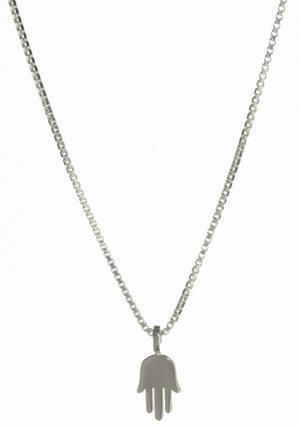 Dainty Hamsa Necklace - Sterling Silver