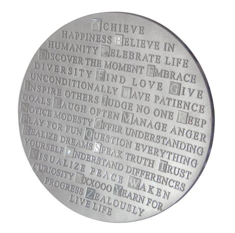 ABC of Life Platter in Silver, 14