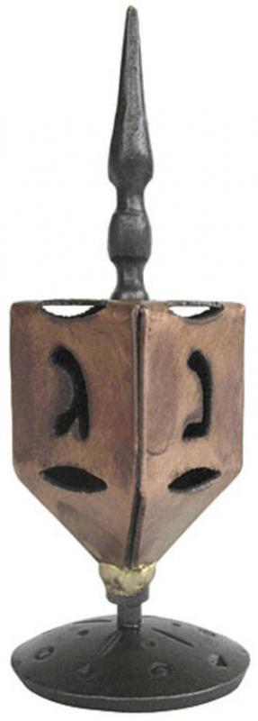 Blackthorne Forge Dreidel - Steel and Copper