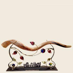 Large Tabletop Shofar Holder