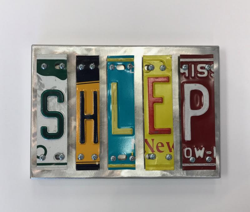 SHLEP License Plate Art