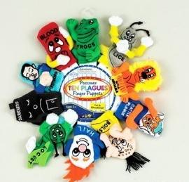 Passover Ten Plagues Finger Puppets - Passover Toys