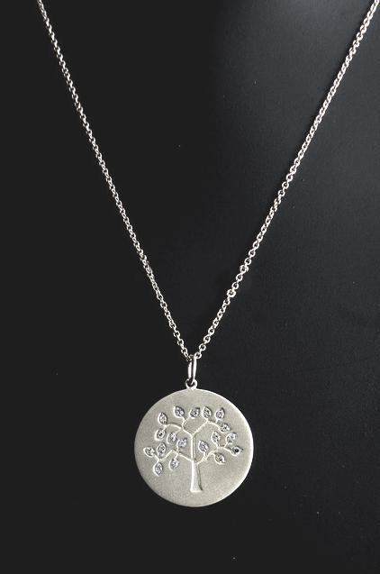 Diamond Tree of Life - White Gold