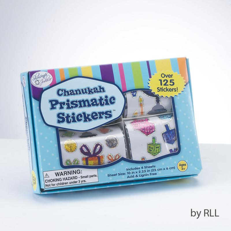Box of Chanukah Stickers - 4 Rolls