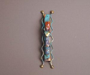 Wedding Glass Mezuzah - Glass and Copper