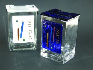 Glass Tzedakah Boxes