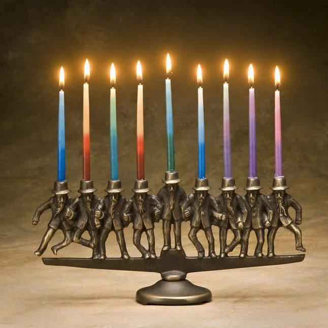 Dancing Rabbi Menorah by Scott Nelles